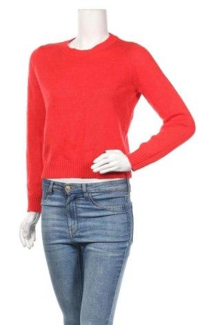 Дамски пуловер H&M Divided, Размер S, Цвят Червен, Акрил, Цена 8,19лв.