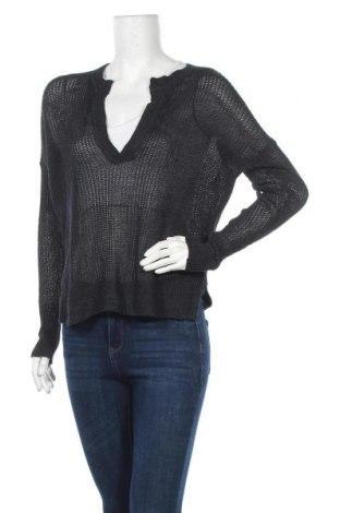 Дамски пуловер H&M L.O.G.G., Размер XS, Цвят Син, 70% лен, 30% акрил, Цена 19,11лв.