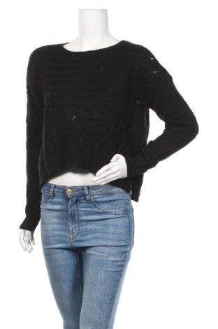 Дамски пуловер Jennyfer, Размер L, Цвят Черен, Акрил, Цена 8,64лв.