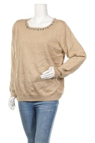 Γυναικείο πουλόβερ Jessica Simpson, Μέγεθος XL, Χρώμα  Μπέζ, 84%ακρυλικό, 11% πολυεστέρας, 5% μεταλλικά νήματα, Τιμή 12,70€