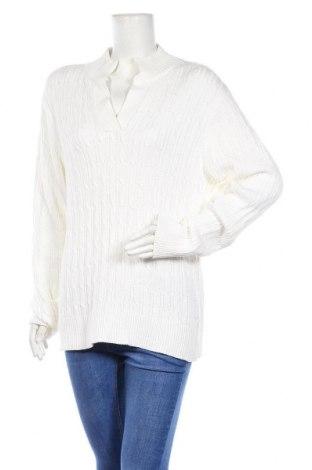 Дамски пуловер Liz Claiborne, Размер XXL, Цвят Бял, Памук, Цена 15,59лв.