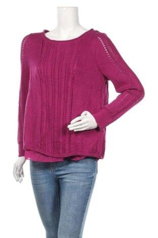 Дамски пуловер Lucky Brand, Размер M, Цвят Лилав, 52% памук, 25% вискоза, 23% полиамид, Цена 15,12лв.