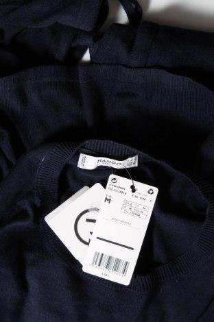Дамски пуловер Mango, Размер M, Цвят Син, 63% памук, 30% полиестер, 7% вискоза, Цена 18,60лв.