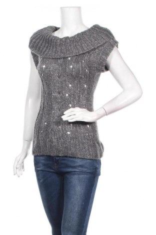 Дамски пуловер Mudd, Размер S, Цвят Сив, 97% акрил, 3% други материали, Цена 7,92лв.