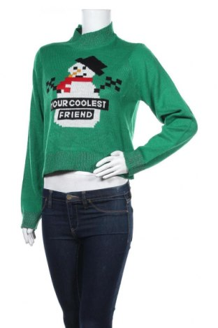 Дамски пуловер Noisy May, Размер M, Цвят Зелен, Акрил, Цена 42,00лв.