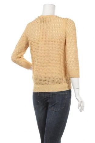 Дамски пуловер United Colors Of Benetton, Размер M, Цвят Жълт, 73% памук, 27% полиамид, Цена 70,50лв.