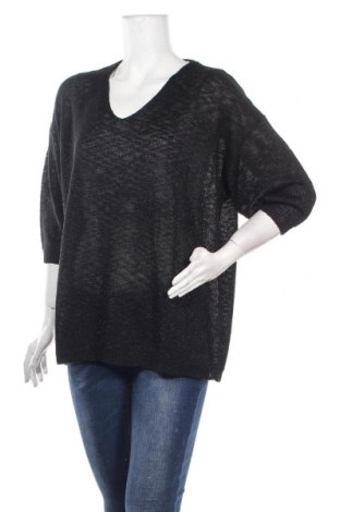 Γυναικείο πουλόβερ Via Appia, Μέγεθος XXL, Χρώμα Μαύρο, 87% πολυακρυλικό, 8% πολυαμίδη, 5% πολυεστέρας, Τιμή 31,75€