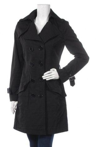 Дамски шлифер Clockhouse, Размер M, Цвят Черен, 65% полиестер, 35% памук, Цена 43,89лв.