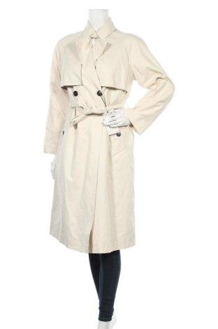 Дамски шлифер Zara, Размер XS, Цвят Бежов, 55% памук, 36% полиестер, 9% полиамид, Цена 96,75лв.