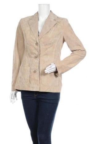 Γυναικείο δερμάτινο σακάκι Style & Co, Μέγεθος M, Χρώμα  Μπέζ, Φυσικό σουέτ, Τιμή 11,04€
