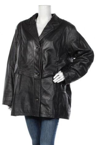 Дамско кожено яке, Размер XL, Цвят Черен, Естествена кожа, Цена 17,64лв.