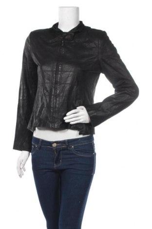 Дамско кожено яке, Размер M, Цвят Черен, Естествена кожа, Цена 63,84лв.