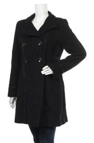 Дамско палто, Размер L, Цвят Черен, Цена 13,86лв.