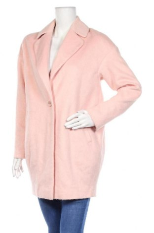 Дамско палто ASOS, Размер S, Цвят Розов, 33% полиестер, 25% акрил, 17% вискоза, 13% вълна, 9% памук, 3% полиамид, Цена 36,02лв.