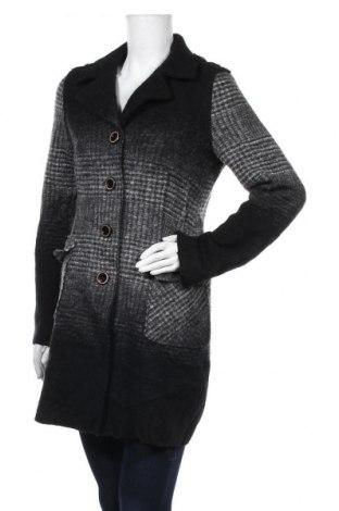Дамско палто Comma,, Размер M, Цвят Сив, 80% вълна, 20% полиестер, Цена 35,70лв.
