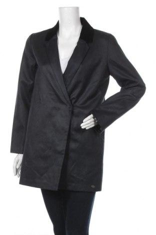 Дамско палто DDP, Размер S, Цвят Син, 65% памук, 35% полиестер, Цена 19,35лв.