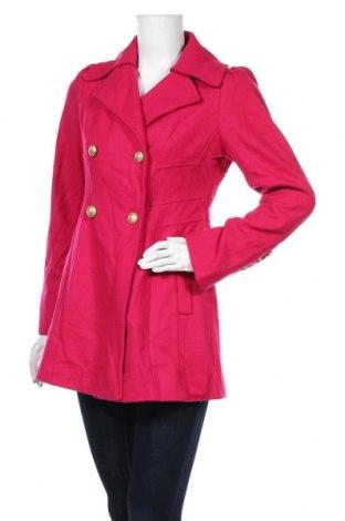 Дамско палто Guess, Размер M, Цвят Розов, 60% вълна, 30% полиестер, 10% вискоза, Цена 46,20лв.