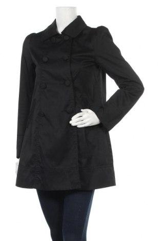 Дамско палто H&M, Размер S, Цвят Черен, 65% полиестер, 35% памук, Цена 17,60лв.