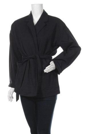Дамско палто Jacqueline Riu, Размер S, Цвят Син, 68% полиестер, 31% вискоза, 1% еластан, Цена 66,75лв.