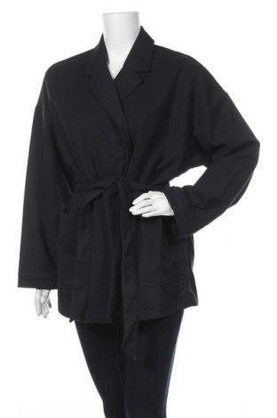 Дамско палто Jacqueline Riu, Размер M, Цвят Син, 68% полиестер, 31% вискоза, 1% еластан, Цена 36,34лв.
