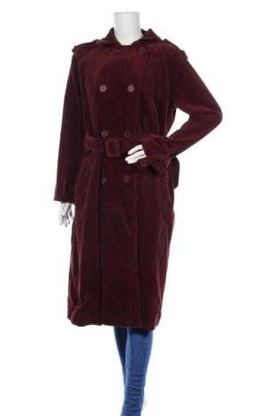 Дамско палто La Redoute, Размер L, Цвят Червен, Памук, Цена 42,75лв.