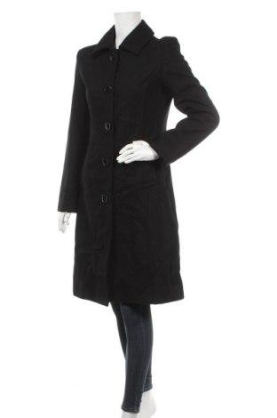 Дамско палто Majora, Размер S, Цвят Черен, 75% вълна, 20% полиамид, 5% други тъкани, Цена 50,87лв.