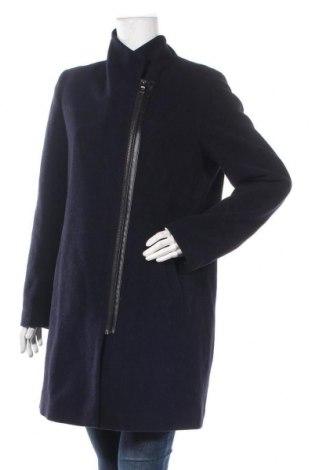 Дамско палто Manguun, Размер L, Цвят Син, 70% вълна, 30% полиестер, Цена 34,81лв.