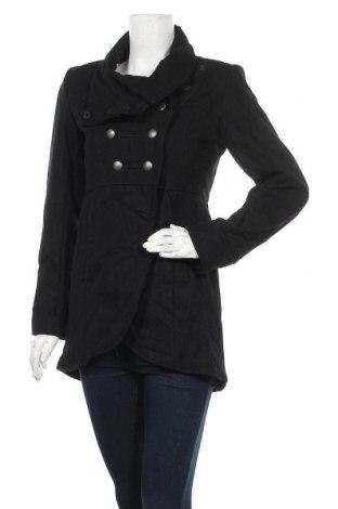 Дамско палто Minimum, Размер XS, Цвят Черен, 60% вълна, 40% полиестер, Цена 49,17лв.