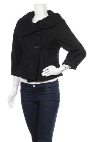 Дамско палто Mossimo, Размер M, Цвят Черен, 56% вълна, 36% полиестер, 8% други материали, Цена 11,03лв.