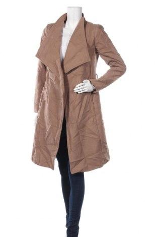 Дамско палто Suzy Shier, Размер XS, Цвят Кафяв, 95% полиестер, 3% вискоза, 2% еластан, Цена 38,75лв.