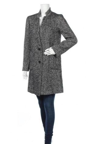 Дамско палто Un Deux Trois, Размер S, Цвят Черен, 52% полиестер, 42% вискоза, 6% вълна, Цена 179,50лв.