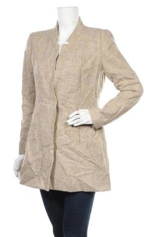 Дамско палто Zara, Размер L, Цвят Бежов, Вълна, Цена 54,60лв.