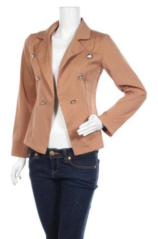 Дамско сако Cbr, Размер S, Цвят Кафяв, 65% памук, 35% полиестер, Цена 31,92лв.