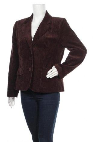 Дамско сако Dressbarn, Размер L, Цвят Кафяв, 98% памук, 2% еластан, Цена 6,83лв.