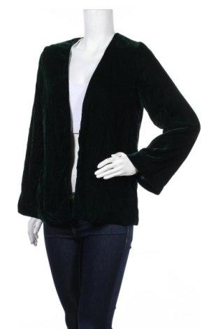 Дамско сако H&M, Размер XS, Цвят Зелен, Полиестер, Цена 20,95лв.