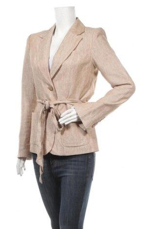 Дамско сако H&M, Размер M, Цвят Бежов, Лен, Цена 13,86лв.
