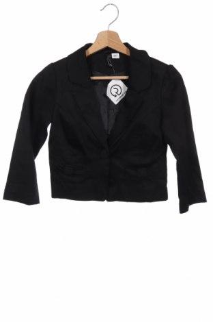 Дамско сако H&M Divided, Размер XS, Цвят Черен, 97% памук, 3% еластан, Цена 6,56лв.