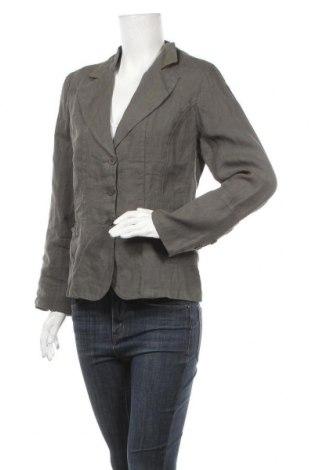 Дамско сако Le Phare De La Baleine, Размер XL, Цвят Зелен, Лен, Цена 65,40лв.