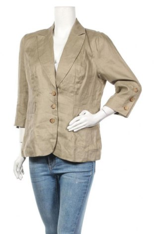 Дамско сако Promod, Размер M, Цвят Бежов, 65% полиестер, 35% памук, Цена 6,56лв.