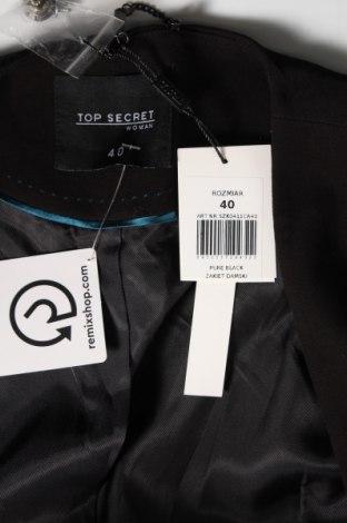 Дамско сако Top Secret, Размер M, Цвят Черен, 63% полиестер, 27% вискоза, 7% памук, 3% еластан, Цена 20,47лв.