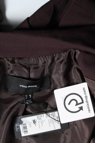 Дамско сако Vero Moda, Размер S, Цвят Кафяв, Полиестер, Цена 19,00лв.