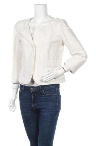 Дамско сако Weekend Max Mara, Размер M, Цвят Екрю, 72% лен, 28% памук, Цена 132,62лв.