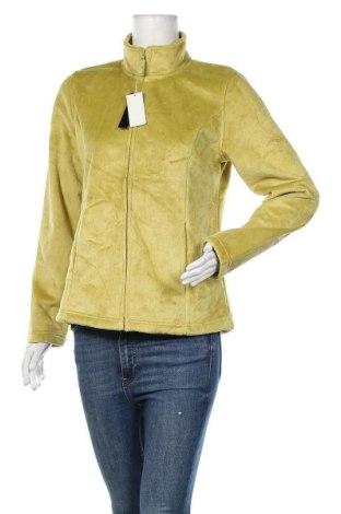 Дамско спортно горнище Grace, Размер M, Цвят Зелен, 60% памук, 40% полиестер, Цена 24,26лв.