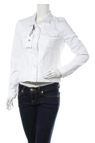Дамско яке 7 For All Mankind, Размер M, Цвят Бял, 98% памук, 2% еластан, Цена 99,64лв.