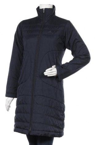 Γυναικείο μπουφάν Adidas, Μέγεθος S, Χρώμα Μπλέ, Πολυεστέρας, Τιμή 32,08€