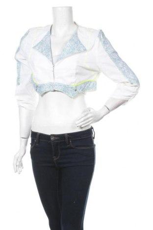 Дамско яке La Mode Est A Vous, Размер L, Цвят Бял, 61% памук, 35% полиамид, 4% еластан, Цена 15,20лв.