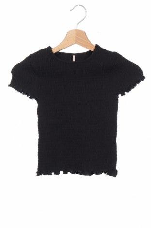 Детска блуза Only Kids, Размер 6-7y/ 122-128 см, Цвят Черен, 95% памук, 5% еластан, Цена 8,12лв.