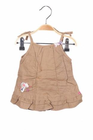 Παιδικό φόρεμα La Compagnie des Petits, Μέγεθος 2-3m/ 56-62 εκ., Χρώμα Καφέ, 55% λινό, 45% βαμβάκι, Τιμή 4,76€