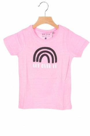 Παιδικό μπλουζάκι Blue Seven, Μέγεθος 2-3y/ 98-104 εκ., Χρώμα Ρόζ , 95% βαμβάκι, 5% ελαστάνη, Τιμή 6,20€