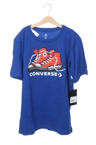 Παιδικό μπλουζάκι Converse, Μέγεθος 12-13y/ 158-164 εκ., Χρώμα Μπλέ, 60% βαμβάκι, 40% πολυεστέρας, Τιμή 19,77€